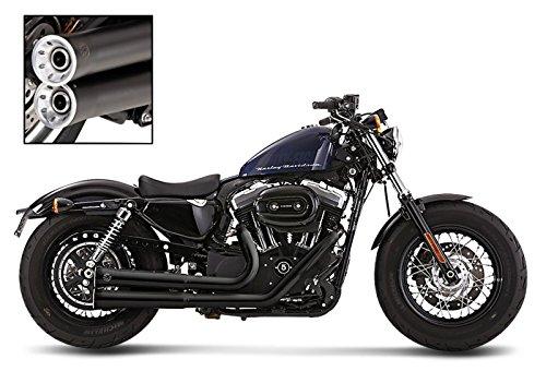 Auspuff Komplettanlage Falcon für Harley Davidson Sportster 883 Iron (XL 883 N) 2014 schwarz
