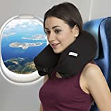 #9: AllExtreme Travel Pillow Best Microbeads Neck Pillow - Ideal For Sleeping, Driving, Flights, Work & More - Contour Neck Pillow For Men & Women Enjoy the Luxury of the Best Pillow for Support and Comfortable Sleep During Traveling (Black)
