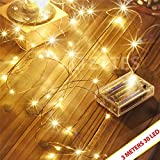 LTETTES Copper String Lights 3 AA Battery Operated Portable LED String Lights, Fairy