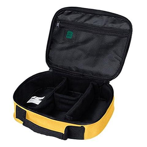 BAGSMART Housse Organisateur d'Accessoires Electroniques Sac de Rangement pour Disque Dur/ Câbles/ Chargeur/ iPad Mini/ Batterie Organisateur D'emballage Voyage(Jaune)