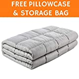 """Snuggle Pro Weighted Blanket (20 lbs Heavy, 60""""x80"""") for Adult and Teens - Designed to Improve Sleep, Reduce Stress and Anxiety, Ideal for Autism, Insomnia, Sensory Disorders. FREE Bamboo Pillow Cover"""