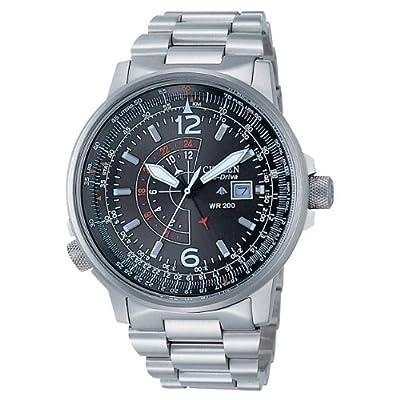 Citizen BJ7010-59E - Reloj analógico de cuarzo para hombre, correa de acero inoxidable multicolor