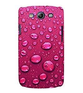 For Samsung Galaxy S3 Neo i9300i :: Samsung I9300I Galaxy S3 Neo :: Samsung Galaxy S III Neo+ I9300I :: Samaung Galaxy S3 Neo Plus water bubble ( water bubble, bubble, water, red background, pattern ) Printed Designer Back Case Cover By Living Fill
