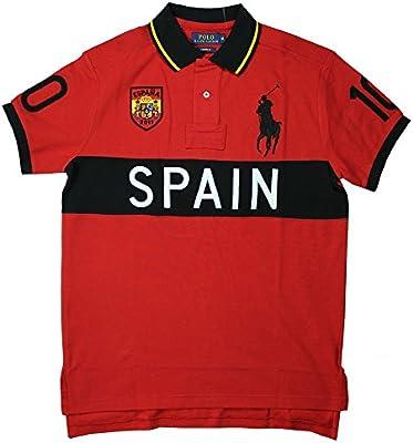 Ralph Lauren Hombres Polo España Rojo
