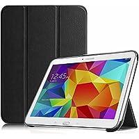 FINTIE Custodia per Samsung Galaxy Tab 4 10.1 - [Slim Shell] Sottile Leggero Protettiva Cover con Auto Sonno/Sveglia Funzione per Samsung Galaxy Tab 4 10.1 SM-T530 SM-T535, Nero