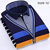 Winter men's shirt collar knit sweater twin set sweater Korean jackets warm and plush padded slim teen