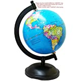Ajmoda Educational/Antique Globe With Black Finish Metal Arc And Base- 5 Inches Color Blue