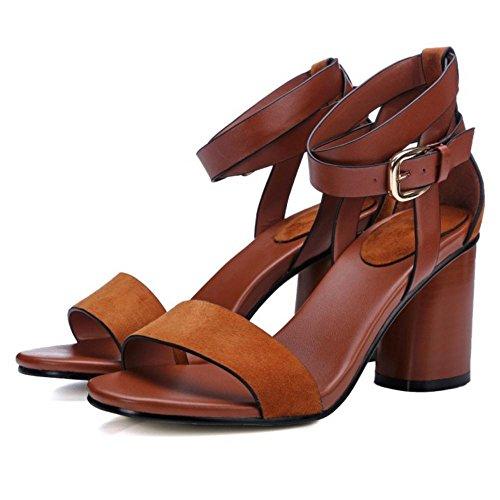 taoffen damen mode blockabsatz high heel sandalen mit. Black Bedroom Furniture Sets. Home Design Ideas