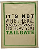 Best Tailgate Games - Mud Pie Tailgate Game Day Bar Towel, White Review