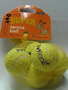Petface Lots de 5 mini balles de tennis jouet pour chien de 4 cm de diamètre