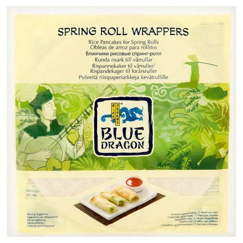 Blue Dragon Spring Roll Wrappers 134G - Bld-010581