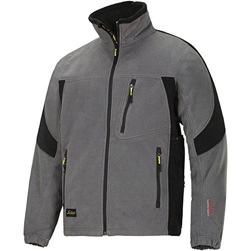 2009 Fleece (Snickers Winddichte Fleece Jacke  grau-schwarz, Gr. M)
