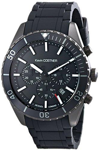 Jacques Lemans Unisex-Armbanduhr Kevin Costner Collection Chronograph Quarz Kautschuk KC-104B