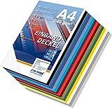 150 Einbanddeckel Falambi / PREMIUM 240 - mix, Sortiment 15 Farben, Rückenkartons in Lederstruktur für Bindemaschine, Farbmix