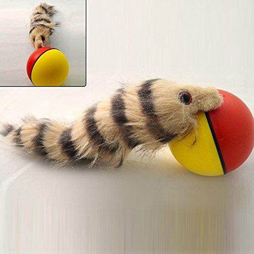 UxradG Funny Weasel motorisiert Rolling Ball Jump beweglichen Spielzeug Pet Hund Katze Weasel Toys–zufällige Farbe