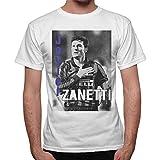 thedifferent T-Shirt Uomo Javier Zanetti Bandiera Inter - Bianco