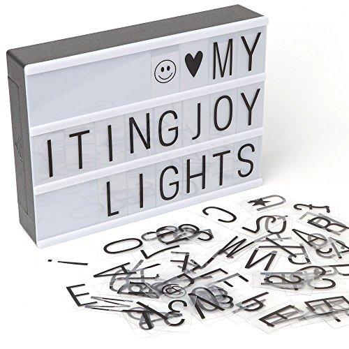 Caja luz, LED LIGHTBOX 90 piezas letras, emojis símbolos