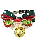 Weihnachten Halsband Wunderschön Geschenk für Hunde Katzen Haustier - Verstellbare Weihnachtsbogen...