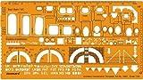 FineArt Architectural Drafting Kombinationsvorlage Schablone Planansicht