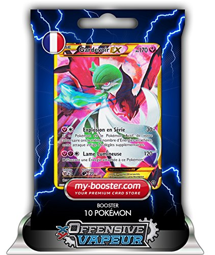 GARDEVOIR EX FULL ART secrete 116/114 170PV XY11 OFFENSIVE VAPEUR - Booster de 10 cartes Pokemon francaises my-booster