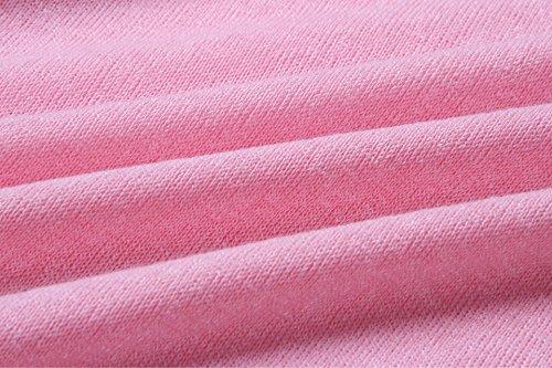 Eineukleid Autunno Donna Casual Maglia Manica Pipistrello Pullover T Shirt Ragazza Magliette Tumblr Camicette Blusa Elegante Baggy Jumper Top Tinta Unita Rosa
