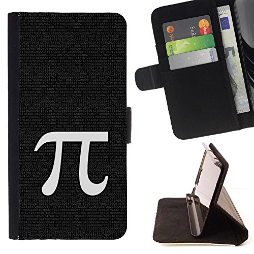 Kobe Diy Case / For Apple Iphone 5 / 5S Pi Mathematics Symbol Ancient Greece Letter Folio PU Wallert Leather Case