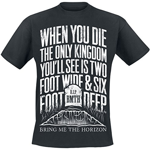 Bring Me The Horizon Grave Camiseta Negro M