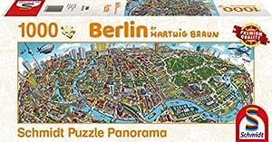 Schmidt Spiele Puzzle 59594Hartwig marrón, Ciudad de Berlin, Puzzle de 1000Piezas