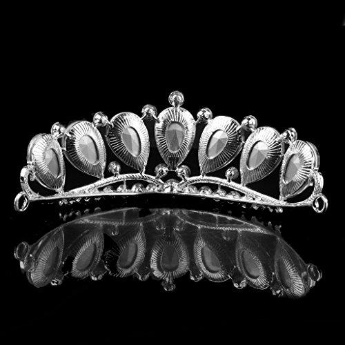 Phenovo Rhinestone Cristalino Dama De Honor Nupcial Tiara De La Boda De La Corona