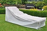 Weiße Schutzhülle Abdeckung für Gartenliege Standardgröße - 2