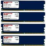 Komputerbay KB_8GB_4X2GB_DDR2_PC2-8500_DIMM - Módulo de memoria DIMM para ordenador de sobremesa de 8GB (4X 2GB) DDR2, PC2-8500 de 1066 MHz - viene con difusores de calor (5-7-7-25 a 1.8V)
