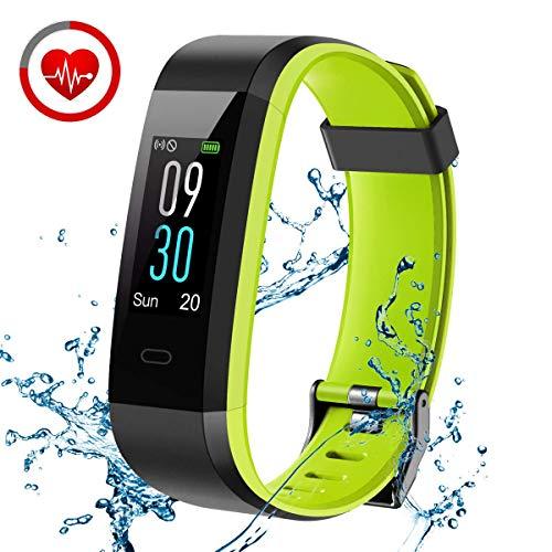 Fitness Armband, CHEREEKI Fitness Tracker mit Pulsmesser IP68 Wasserdicht
