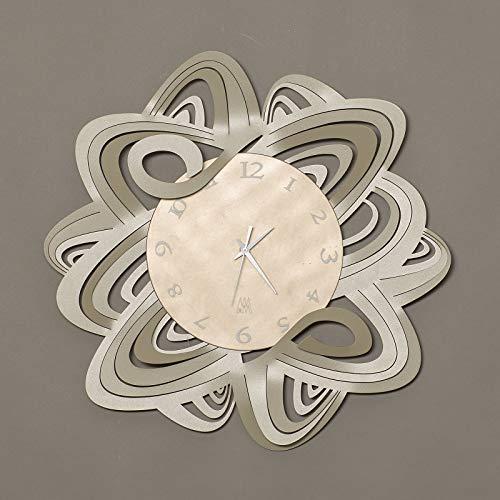 orologio da parete design moderno particolare Arti e Mestieri penelope metallo colore sabbia