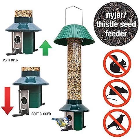 A prova di scoiattolo, Niger-Mangiatoia per uccelli per semi di cardo, Roamwild Pest-Off, non per altri semi e noccioline - Nyjer Seed