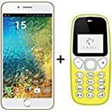 I KALL K1 5 Inch 4G Android Phone (Gold) With K71 (Yellow)