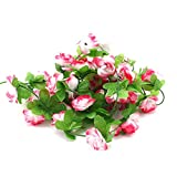 display08Home Hochzeit Party Decor Fake Blume Girlande Künstliche Rose...