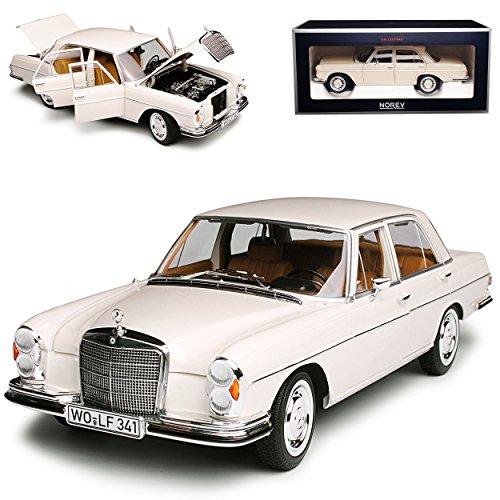 Norev Mercedes-Benz 280 SE S-Klasse Limousine Ivory Beige W108 1965-1972 1/18 Modell Auto mit individiuellem Wunschkennzeichen