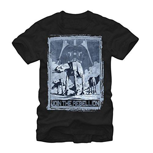 Star Wars Men's Join The Rebellion Black T-Shirt -
