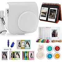 Woodmin 10-in-1 Accessori Bundle per Fujifilm Instax Mini 8 Camera bianca(Mini 8 caso / album / Frames / Film Adesivi / filtri / Mark penna / Selfie-Lens)