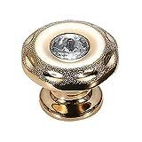non-brand Sharplace Runde Retro Möbelgriffe Schrankgriffe Griff für Kleiderschrank Kommode Schublade - # 1Rund Gold