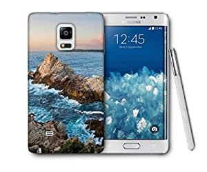 Snoogg Waves Hitting The Mountain Printed Protective Phone Back Case Cover For Samsung Galaxy NOTE EDGE