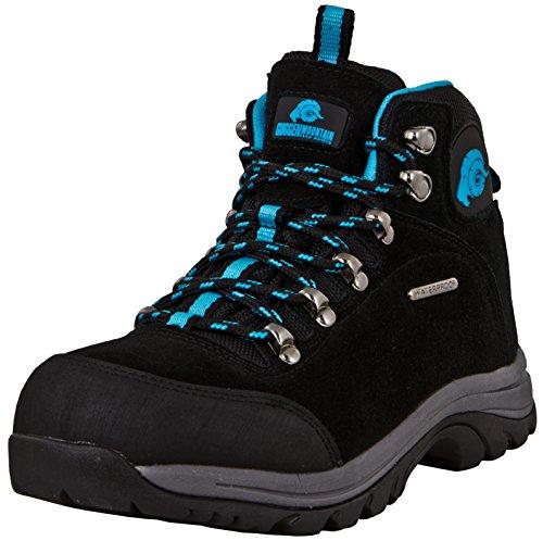 GUGGEN Mountain M014 Damen Trekking-& Wanderstiefel Outdoorschuhe wasserdicht mit Membran und Wildleder Farbe Blau EU 39