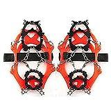 WERTYUH Picco per Scarpe da Neve Antisdrucciolo per Scarpe Ramponi per Scarpe Antiscivolo 12 Denti Escursionismo Alpinismo All'aperto,Orange