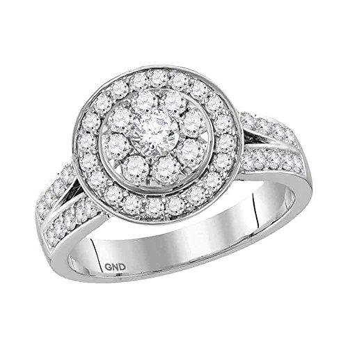 Sonia Jewels - 14 Kt Weißgold Rundschliff Leicht Getöntes Weiß/Top Crystal (I) G-H Weißer Diamant