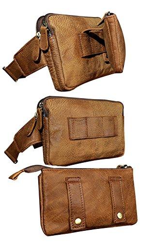 Genda 2Archer Bolsa Multifunción de Piel Extraíble de Moda Bolso de la Cintura Bolsa de Hombro (25 cm * 9 cm * 17 cm)