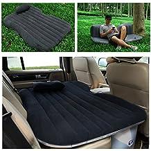 ASJ coche universal de viaje hinchable colchón sofá cama hinchable para camping, gris