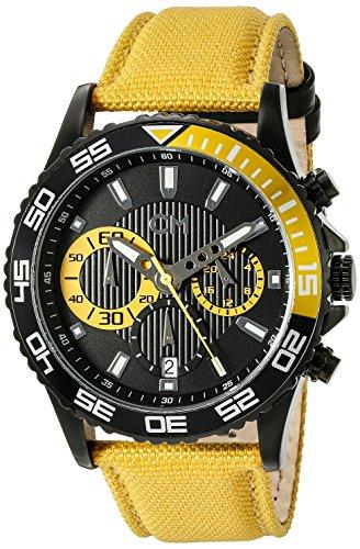Carlo Monti CM509-620 - Reloj cronógrafo de cuarzo para hombre con correa de tela, color amarillo