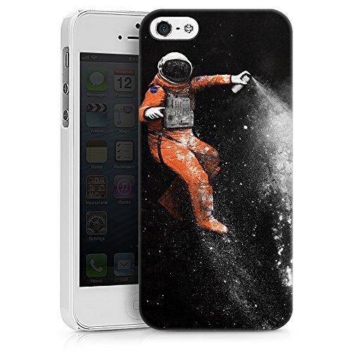 """artboxONE Handyhülle Apple iPhone 5, schwarz Hard-Case Handyhülle """"Astronaut Case"""" - Abstrakt - Smartphone Case mit Kunstdruck hochwertiges Handycover von Florent Bodart Hard Case weiß"""