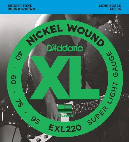 D'Addario EXL220 Set Corde Basso EXL