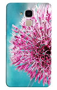 Omnam Pink Sea Plant Printed Designer Back Cover Case For Huawei Honor 5C